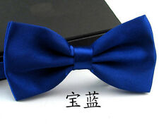 Fashion Unisex Pure Plain Bowtie Adjustable Tuxedo Bowtie Wedding Party Necktie