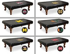 Choose NCAA K-O Team 7', 8', or 9' Heavy Duty Vinyl Billiard Pool Table Cover