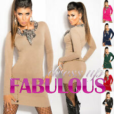 NEW SEXY 6 8 10 WOMENS JUMPER DRESS LONG SWEATER PARTY EVENING WEAR CLOTHING