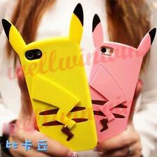 Colorful Cute Pikachu Sweet Cartoon Silicone Case Soft Cover For iPhone 5 5S PK
