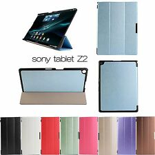 WY4 Ultra Thin Silk Folding Stand Leather Case Cover For Sony Xperia Tablet Z2