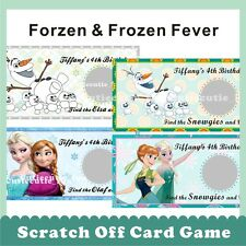 Personalised Disney Frozen Princess Tinkerbell Scratch Off Ticket Card Game Gift