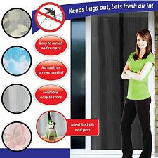 Magnetic Magic Insects Fly Bug Mosquito Door Mesh Hands Free Curtain Net Screen