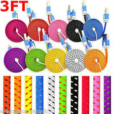 Rapid Charge Braided Micro USB Cable For Galaxy S5 S4 S3 S2 Note II III 3 Power