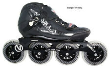 Vanilla Carbon Black 4 Wheel Inline Speed Skate