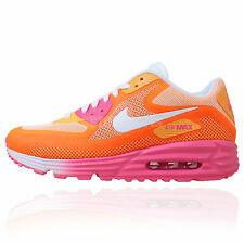 Nike Wmns Air Max Lunar90 C3.0 Pink Orange 2014 Womens Running Shoes 90 Sneakers