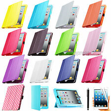 Smart Cover Magnetic Leather Case Sleep/Wake Stand For Apple iPad 4 New iPad 3 2