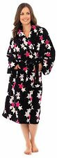 Anucci Ladies Star Print Supersoft Coral Fleece Dressing Gown Robe