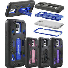 New For Samsung Galaxy S5 SV Rugged Armor Kickstand Hard Case Cover Protector