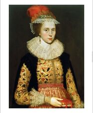 ENGLISH SCHOOL Portrait Margaret Layton PRINT new choose SIZE, from 55cm up, NEW