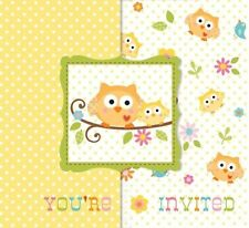 Happi Tree Baby Shower Sweet Baby Owl Invitations 8 ct 25ct Thank yous 8 ct