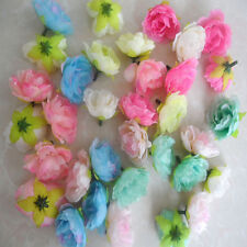 Wholesale Hibiscus flowers Silk Flower Heads Wedding bride decor 7 color choice