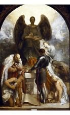 "GEORGE FREDERIC WATTS ""Angel of Death"" WINGS court boy adult age CANVAS PRINT"