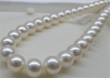 """14mm White Sea South Shell Pearl Necklace AAA 100% Real Hand knotted 18-35"""""""