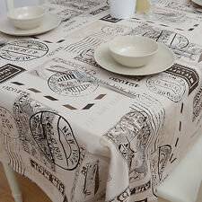 British Retro Fabric Table Blazers Map Print Tablecloth Cover for Home Decor