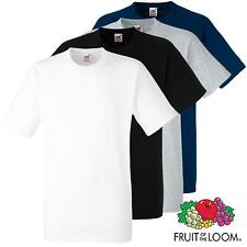 Fruit of The Loom Men's Heavy Cotton Sofspun T-Shirt Plain Blank T Shirt Tshirt