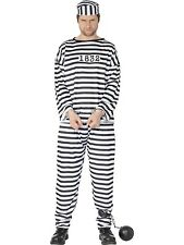 Adult Mens Convict/Prisoner Smiffys Fancy Dress Costume