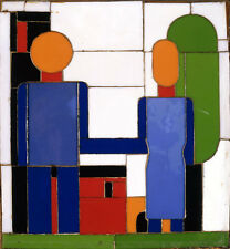 """STRIKING CANVAS PRINT """"Man and Woman Intersecting Arms"""" LOVE two mosaic SEIWERT"""
