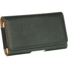 New Black Leather Luxmo Holster Belt Clip Pouch Case for Large Cell Phones