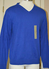 Men's St. John's Bay Blue V-Neck Cashmere Blend Pullover Sweater Sizes M, L, XL