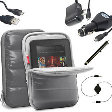"for ALL 7-8"" Tablets Stylus Charger Film Sleeve Case Cover w/ Multi Angle Stand"