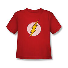 DC Vintage The Flash Logo T-Shirt Boy Girl Child Red S M L 4 5 6 7