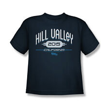 Back To The Future 2 Hill Valley 2015 T-Shirt Youth Boy Girl Navy Blue S M L Xl