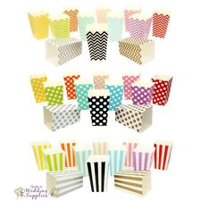 New 12 x Mini Popcorn Boxes Wedding Party Favour Lolly Box Retro Cinema Pop Corn