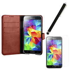 Ultra Slim Flip Leather Wallet Smart Cover Stand Case For Samsung Galaxy S5 SV