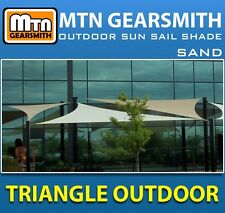 NEW TRIANGLE OUTDOOR SUN SAIL SHADE CANOPY COVER - SAND