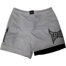 "TapouT Official ""All Clear"" Bloody MMA Fight Boardshorts LE White/Black"
