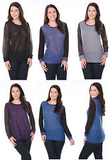 Lady Sexy Women Fashion Long Sleeve Plus Size Casual Sweater Top Blouse Shirt