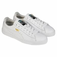 Puma Mens Basket Classic LFS White  Leather Lace Up Sneakers Shoes