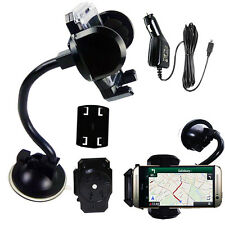 NEW Gooseneck Long Windscreen Mount Suction Mobile Holder FREE USB Car Charger