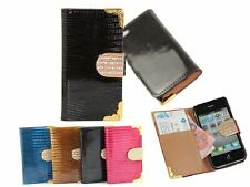 K MAGNETIC BLING DIAMOND WALLET CARD LEATHER FLIP CASE COVER FOR IPHONE SAMSUNG
