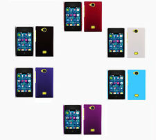 Hard Rubberized Matte Plastic Snap-On Cover Case For Nokia Asha 503