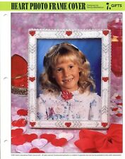 Heart Photo Frame Cover, Annie's plastic canvas pattern