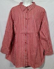 ROAMANS chelsea studio stretch stripe BLOUSE shirt pick szs 4X 5X 6X