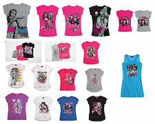 Sales From £2.99 Girls t shirt top tee dress tunic Monster high Hello kitty Pony