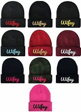 NEW WIFEY 3D CUFFED BEANIE SKULL CAP HIP HOP HAT MANY COLORS AVAILABLE