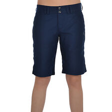 adidas Performance Womens Casual Wash Woven Buttoned Bermuda Shorts - Navy