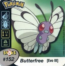 STAKS AIMANT POKEMON PANINI 50X50 N° 152 BUTTERFREE