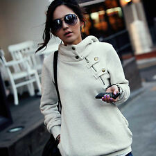 Hot Korean Women Hooded Sweater Pullover Casual Coat Blouse Tops Jacket S M L XL