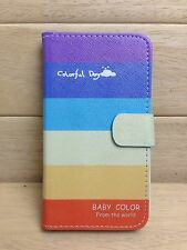 Flip Color Wallet Pocket PU Leather Case Cover Protector for Vary Phone 5-2