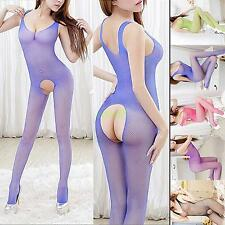 Sexy Lingerie Women's Sexy Mesh Net Jumpsuits Open Crotch Bodystockings 5 Colors
