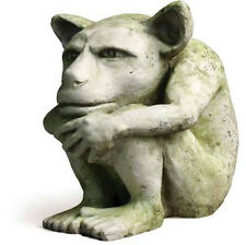"Dedo Gargoyle Outdoor Garden Statue by Orlandi Made of Fiberstone-9""H FSD1101"