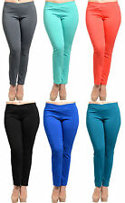 Hot Women Plus Size Casual Stretch Skinny Legging Pencil Pants Trousers Slim Fit
