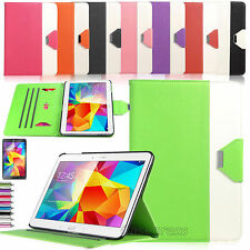 "PU Leather Folio Case Stand Cover For Samsung Galaxy Tab 4 10.1"" SM-T530 Tablet"