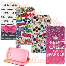 4 Style Cute Flip PU Leather Wallet Stand Case Cover For Samsung S7392 S7562