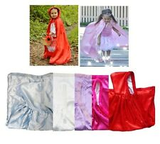 NEW Princess Cape Satin with Faux Fur Hood Trim Frozen Princess